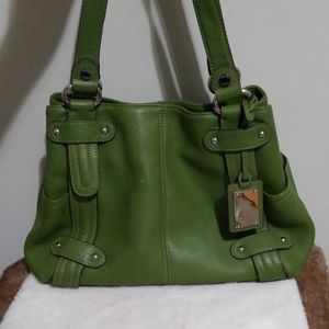 Tignanello green leather bag